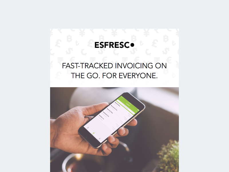 Esfresco Launch Email email esfresco launch ios app invoice app