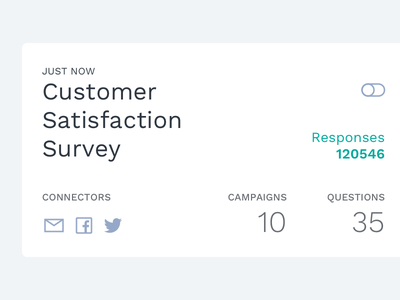 Survey Card white ux ui card minimalistic typography survey