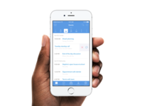 iOS app for planning, managing and organising personal events.