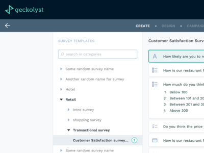 Survey Module for Geckolyst