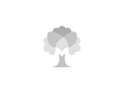 Nature Logo Exploration concept branding symbol grey blending layer tree icon nature logo