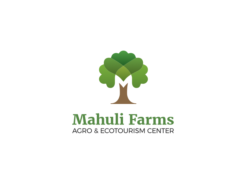 Agro & Ecotourism Center Logo mark ecotourism m resort farm nature tree icon brand logo