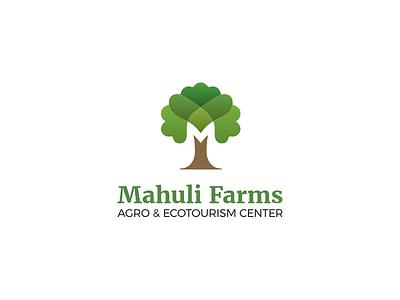 Agro & Ecotourism Center Logo mark ecotourism m resort farm nature tree icon brand logo