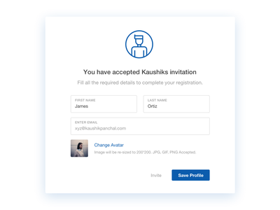 Invitation Accepted input field input form form placeholder text placeholder text field ui invitation