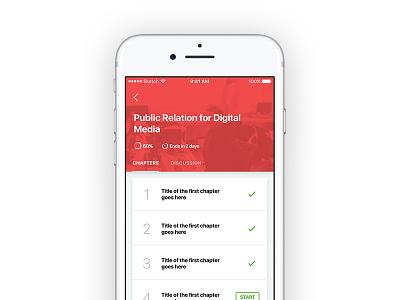 Training App Course Details minimalism ux design ionic hybrid ui design mobile ui ui app android ios