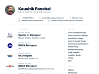 Resume - User Interface Designer