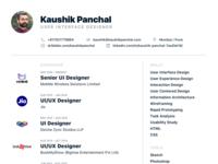 Resume - User Interface Designer