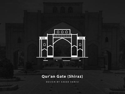Qur'an Gate graphic design shiraz gate kazeroon saeed edrisi vector tehran iran shiraz quran gate