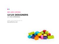 We are hiring - Minimalist Ad Design
