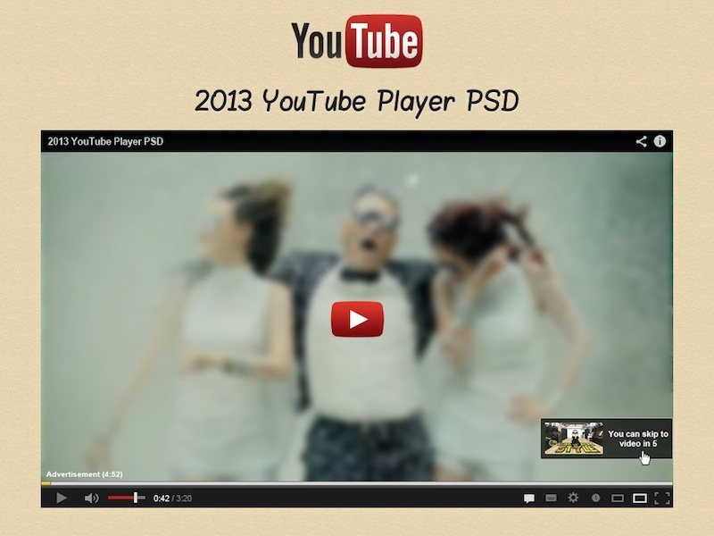 Youtube Player PSD by Erlen on Dribbble