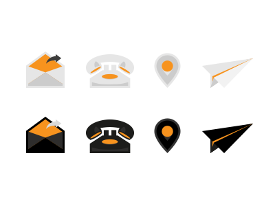 Contact Icons icon share mail pin phone letter paper plane airplane