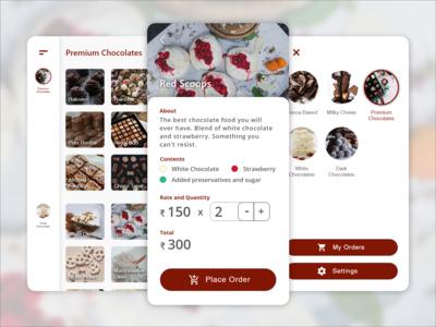 The Chocolate Shop | App Design