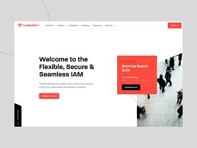 Homepage - TrustBuilder typography nordhaven snellenberg dennis sketch ux interface font orange homepage website ui design trustbuilder