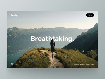 Breathtaking. mountain hike travel parallax website parallax effect parallax scrolling scroll animation animation website interface ui ux principle rotterdam snellenberg dennis scroll experience parallax breathtaking