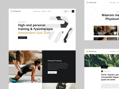 Desktop - Physicum ux interface training personal training snellenberg dennis amsterdam personal trainer physiotherapy gym web design webdesign ui design website physicum desktop