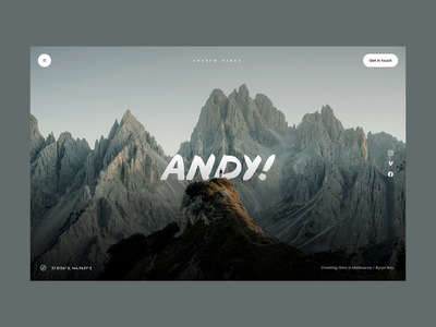 LIVE - Andy Hardy Portfolio layers mountains website builder transitions website rotterdam australia dennis snellenberg parallax effect scroll fade andy parallax website live parallax scrolling parallax photography andy hardy