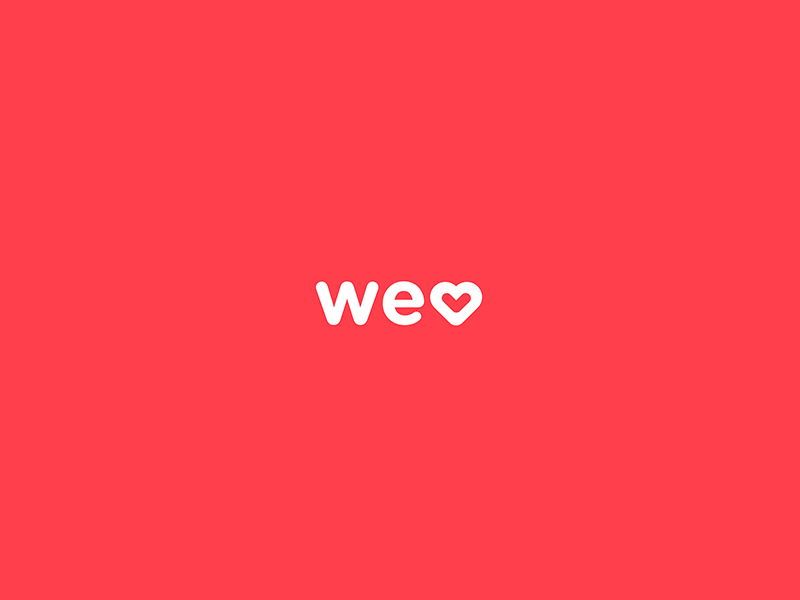 The welovedaily logo heart love color red welovedaily logo