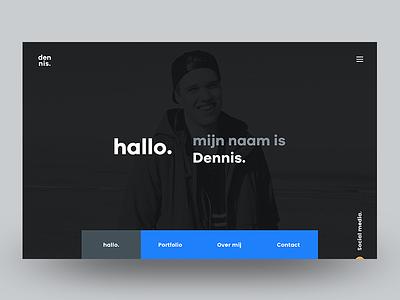 Personal Website - Homepage webdesign social photography blue poppins typograhpy new website portfolio