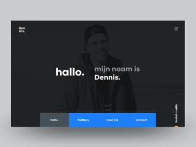 Personal Website - Homepage