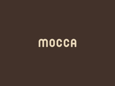 Mocca Logo schoolproject team cup mocca bean bean brown illustrator coffee mocca logo