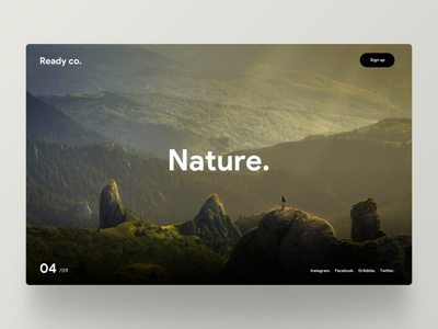 Nature. netherlands nederland interaction smooth transition sketch website ux ui scroll rotterdam principle blog parallax nature