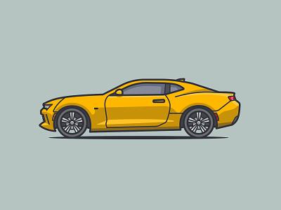 2016 Chevrolet Camaro wheels rims highlights shadow illustrator illustration car 2016 camaro chevrolet chevy