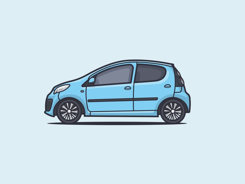 2013 Citroën C1 vector baby blue rims wheels illustration illustrator side car side car illustration car c1 citroen citroen c1