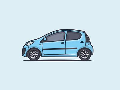 2013 Citroën C1 vector baby blue rims wheels illustration illustrator side car side car illustration car c1 citroen citroen c1