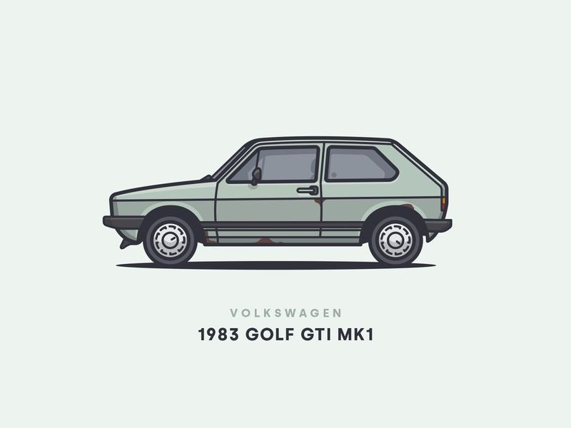 1983 Volkswagen Golf GTI MK1 rotterdam rust side car side illustration wheels practice side illustration car golf gti gti mk1 gti mk1 vw volkswagen golf 1983