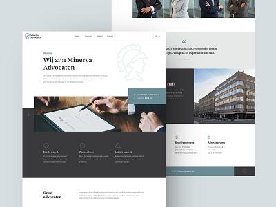 Full Homepage - Minerva Advocaten snellenberg dennis business elegant lawyers lawyer advocaten website design ux ui rotterdam homepage onepager sketch onepage