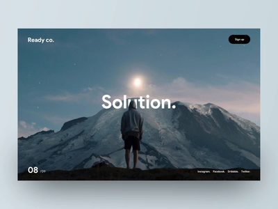 Solution. snellenberg dennis parallax scrolling ux ui ready mountain bold clean scrolling website webdesign animation principle transition concept rotterdam parallax responsive mobile