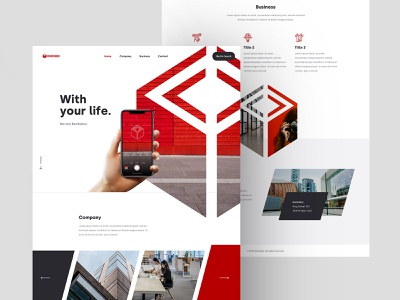 Full Homepage - Booksbox tokyo dennis japan rotterdam sketch website mobiel with your life shape red onepager onepage one-page homepage booksbox