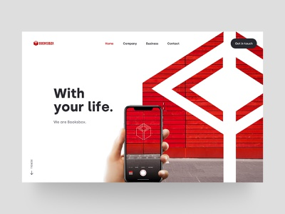 Homepage - Booksbox onepage red with your life tokyo dennis website onepager one-page homepage interface ux sketch japan ui