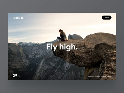 Fly high. mountain nature ux ui movement effect transition animation snellenberg dennis rotterdam scrolling website parallax high fly big dream
