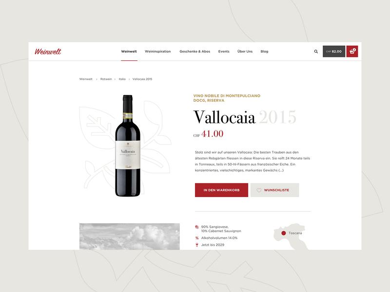 Product Page - Weinwelt