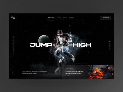 JUMP―HIGH snellenberg dennis ux ui sketch power fire lava experiment powerfull webdesign website jumping moon high jump rotterdam deep dive