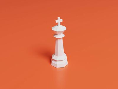 Chess Piece (3D) polygon practice king blender3dart piece chess 3d blender