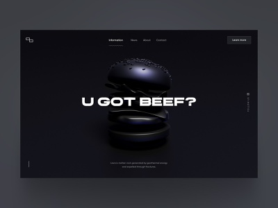 U GOT BEEF? experiment dark black white shot out try website got beef burger 3d beef