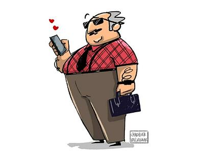 Texting... motiondesign motion adobeillustrator illustrator love office characterdesign texting man adobe cartoon character