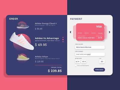 Daily UI challenge #002 002 uidesign dailyui 002 ui checkout card credit shoes web design design mobile adobe xd dailyui