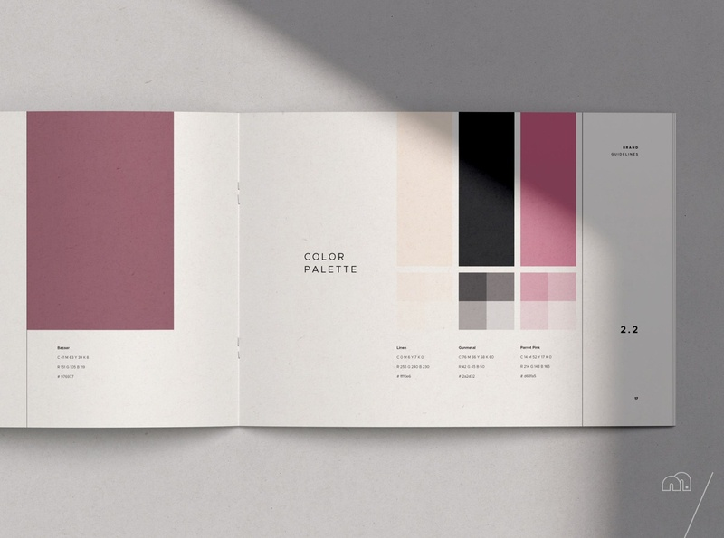 Brand Manual - SQRE minimalism minimal brand guideline look book template layoutdesign logodesign brand identity branding design brand design