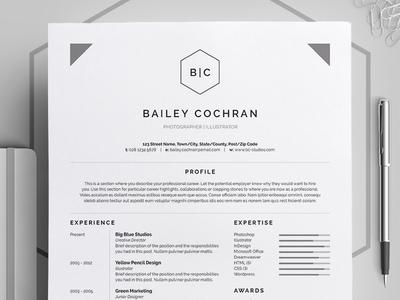 Resume/CV - 'Bailey'