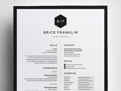 Resume/CV - 'Brice'