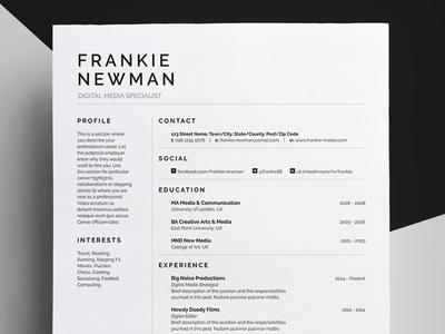 Resume/CV - 'Frankie'