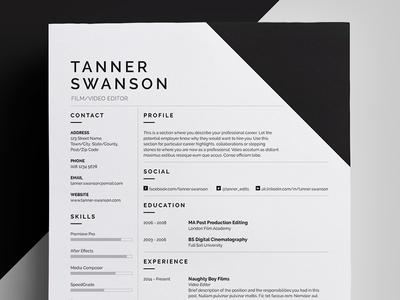 Resume/CV - 'Tanner'