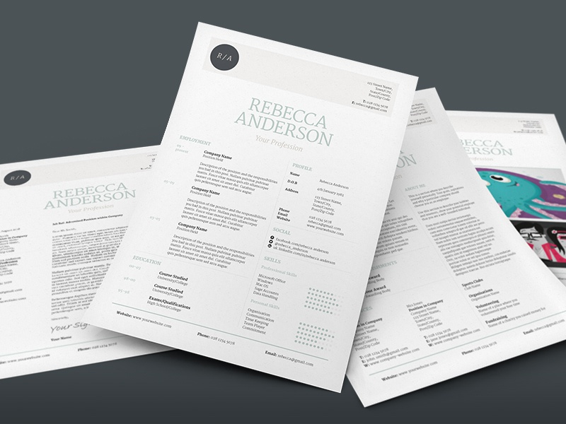 elegant resume v1 by bill mawhinney dribbble