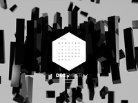 Dark Polygon Calendar - December