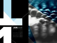 Abstract Desktop Calendar - January