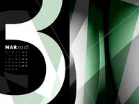 Abstract Desktop Calendar - March