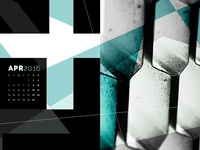 Abstract Desktop Calendar - April